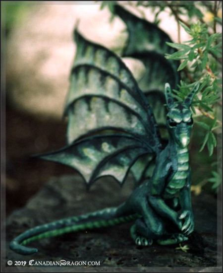 Canadian Dragon Fantasy Art Original Fairy Dragon Sculpture